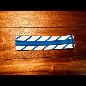 Lululemon blue and white stripe headband